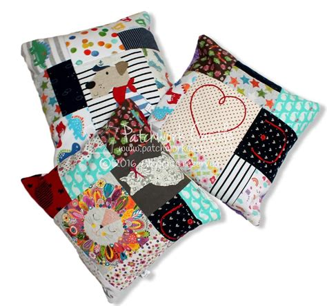 Patchwork Co Uk - keepsake square patchwork cushion