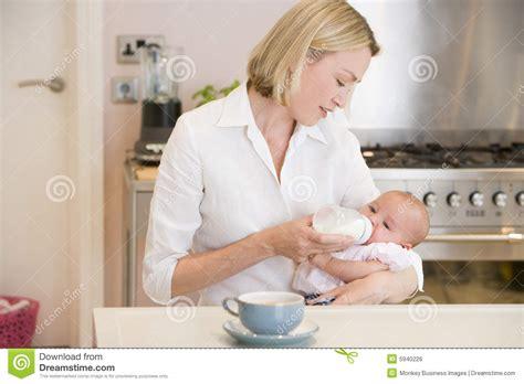 Kitchen Baby With Baby In Kitchen Stock Image Cartoondealer