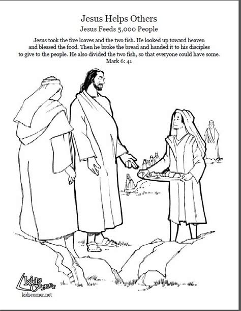 Bible Coloring Page Feeding 5000 by Pin By Corner On Bible Coloring Pages Jesus Feeds