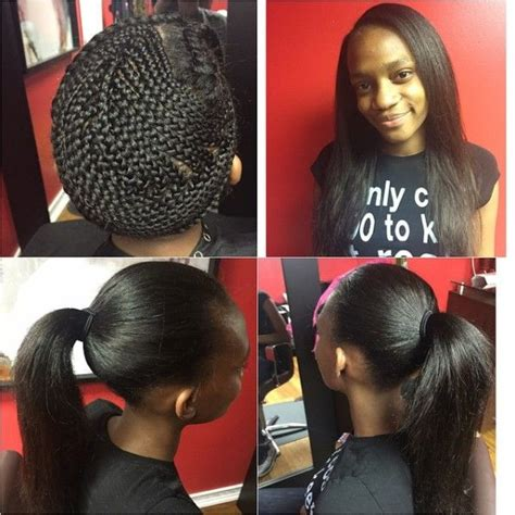 versatile sew in black hairstyles pinterest nynystyles great sew in and that braid pattern is no joke