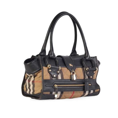 Burberry Quilted Bag by Burberry Check Quilted Canvas Manor Bag Large Luxity