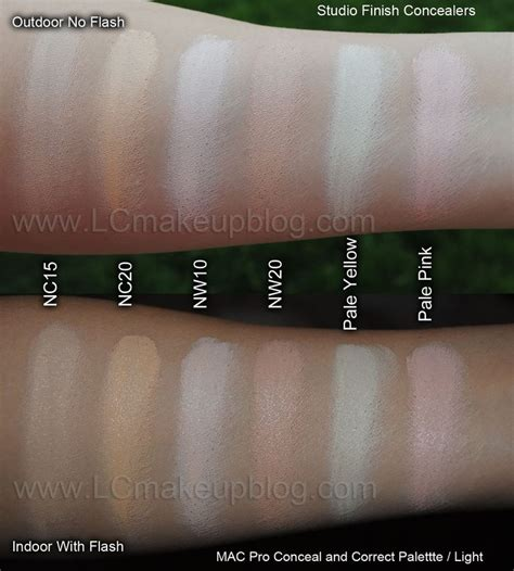 Mac Concealer Palette lc makeup artist mac pro concealer palette swatches in
