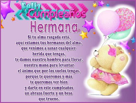 feliz cumpleaños hermana mayor imagenes bildresultat f 246 r feliz cumplea 241 os hermana gratulationer