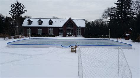 Backyard Skating by Custom Rinks Backyard Rink Installations