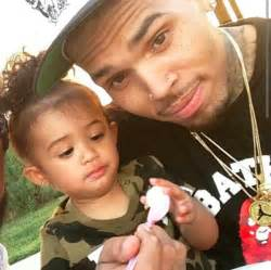 Chris brown throws 1st birthday for daughter royalty and wear matching