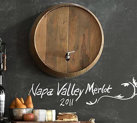 Wine Barrel Wall Mounted Drink Dispenser   Pottery Barn