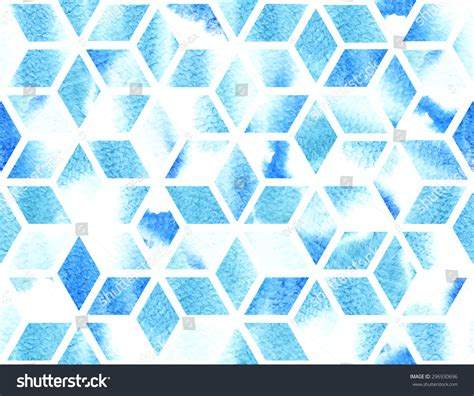 geometric pattern in blue watercolor geometric pattern in blue seamless abstract