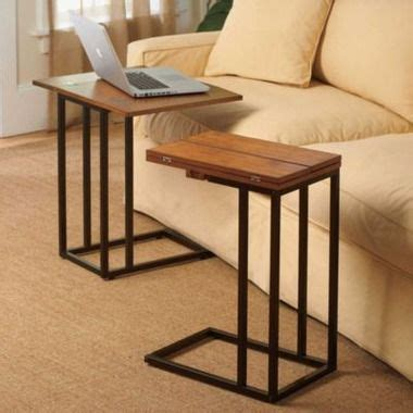 Dinner Tray Tables by Expandable Tv Dinner Tray Side Table Darker Finish Is