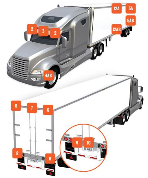 semi truck lighting diagram semi trailer diagram 138dhw co