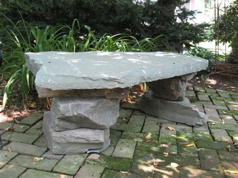 bench stones structured hardscape construction