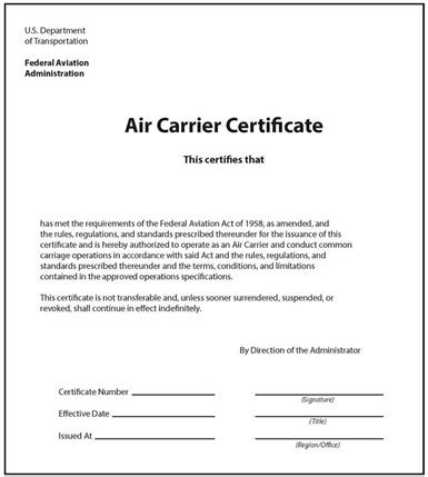 Certifications For Mba Operations by Carrier Certificate And Release Order Definition