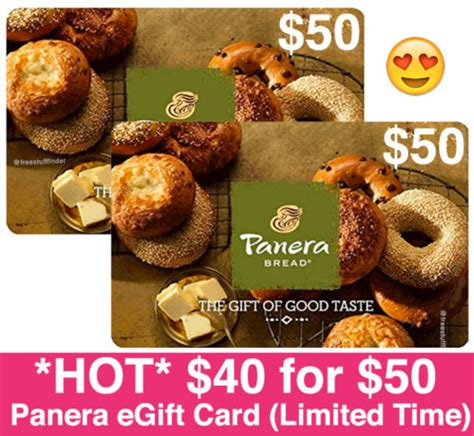 Panera Gift Card Deals - hot only 40 for 50 panera egift card more gift card deals