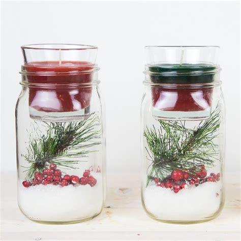 gläser verschenken centro de mesa con un bote de cristal y una vela para el hogar