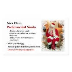 business cards santa business cards templates zazzle