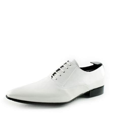 shiny white oxford shoes for weddings s white leather