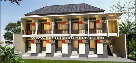 Rumah Bangunan Kos Kosan 10 Kamar desain kost kosan 10 kamar bp anom mambal artcon bali