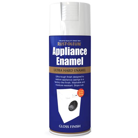 rust oleum appliance enamel white gloss spray paint 400ml ebay