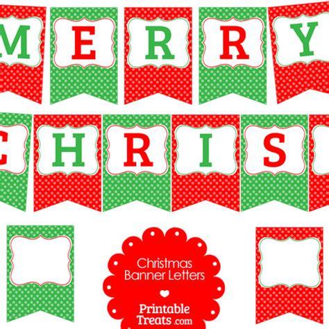 merry christmas polka dot banner letters printable treatscom