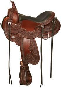 Horse Saddle 1750 Wind River Flex 2 Western Trail Horse Saddle Circle Y