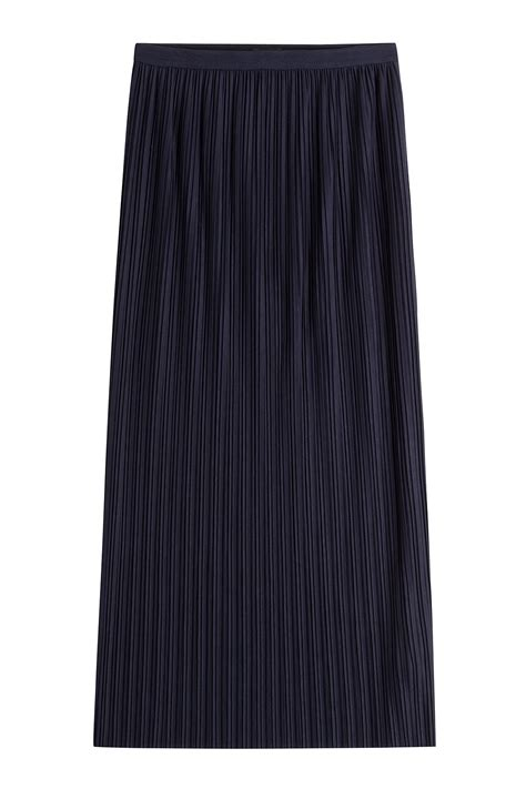 theory pleated skirt blue in blue lyst
