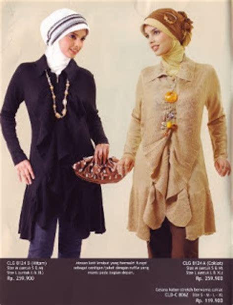 model busana santai trendy model baju gamis batik kombinasi brokat busana muslim 2014