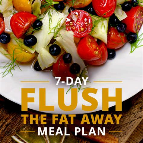 Flush Away Detox by 7 Day Flush The Away Meal Plan Detox Program Drinks