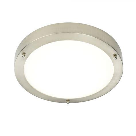 endon 54675 portico led flush ceiling light satin nickel