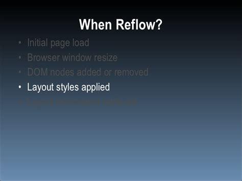 Javascript Reflow Layout | speed up your javascript