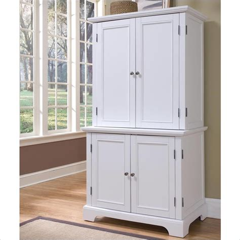 Office Desk Armoire Cabinet Home Styles Naples White Computer Armoire 5530 190