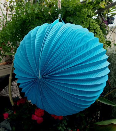 How To Make Accordion Paper Lanterns - 12 quot turquoise accordion paper lantern 3 pack ebay