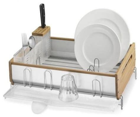Simplehuman Drying Rack by Simplehuman Bamboo Dish Rack Review Best Dish Drainer