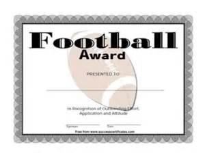 certificate for football winner football award one