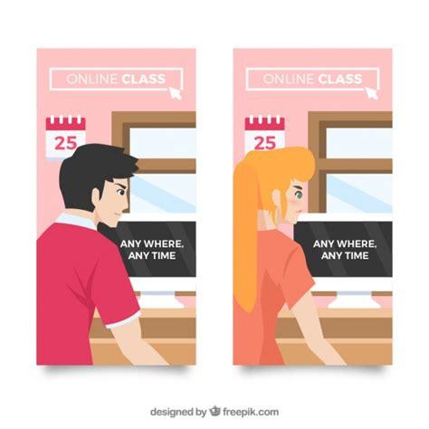 planos en linea banners planos de clases en l 237 nea descargar vectores gratis