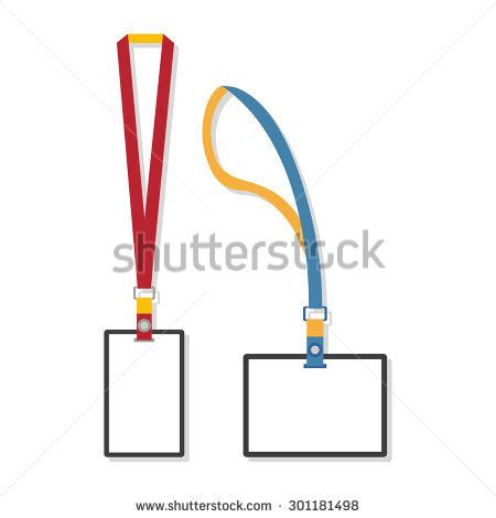 lanyard template stock photos royalty free images vectors