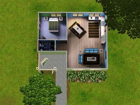 Tiny Kitchen Floor Plans mod the sims lil green bungalow a small home for your sims