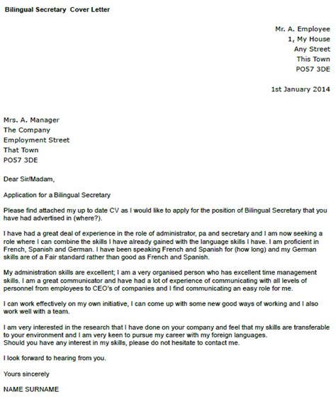 Bilingual Executive Cover Letter by Bilingual Cover Letter Exle Icover Org Uk
