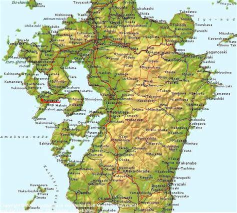 nagasaki map maps of nagasaki