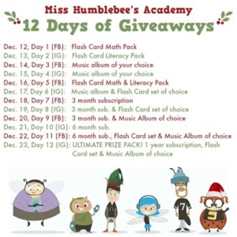 12 Days Of Giveaways Prize List - holidays archives misshumblebee s blog