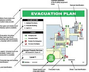 Emergency Exit Map Template by Evacdisplays How To Create A Emergency Evacuation Map