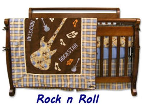 Rock And Roll Crib Bedding Plaid Curtains And Baby Bedding Sets For The Nursery