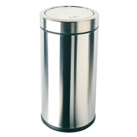 simplehuman swing top trash can stylish stainless steel trash cans for the kitchen 2014