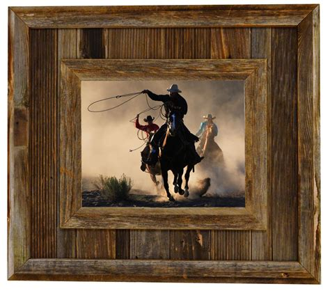 Large Farmhouse Plans by Salvaged Reclaimed Barnwood Picture Frame Durango Rustic