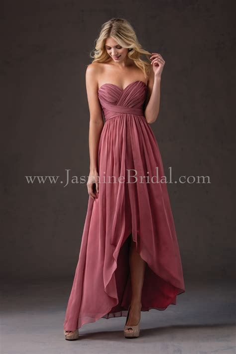 chagne color bridesmaid dress l184052 sweetheart strapless belsoie chiffon high