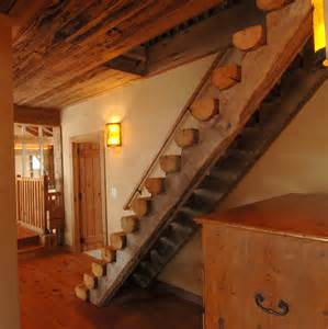 Spiral Chandeliers Rustic Staircase