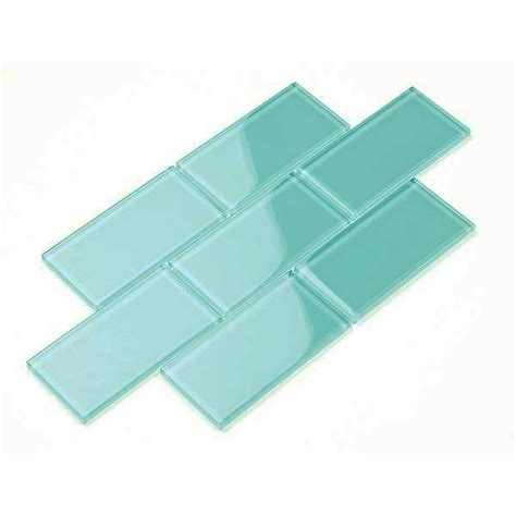 glass subway tile teal 3 quot x 6 quot laundry room