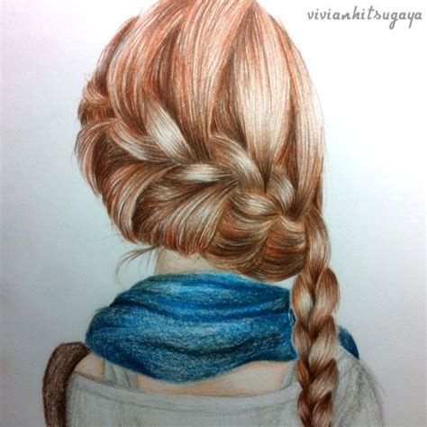 best 25 drawing hair ideas on pinterest hair sketch photos draw girl with braids drawing art gallery