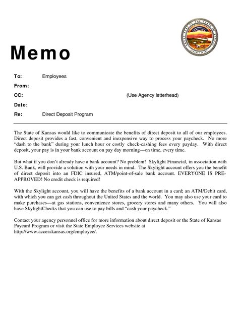 Memo Sle To Employees 9 Best Images Of Memo Format With Cc Sle Employee Memo Sle Business Memo Exles And