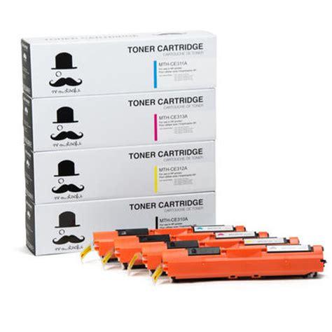 Fast Print Chip Toner Hp 126a Cartridge Ce311a Cyan compatible hp 126a ce310a ce311a ce312a ce313a toner cartridge combo bk c m y moustache