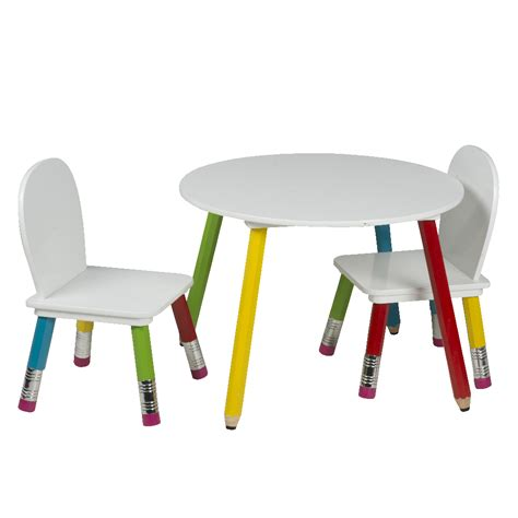 chaise et table pour enfant ensemble table et chaises enfants pieds crayons de