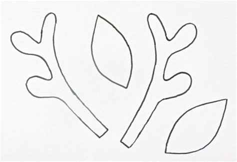 printable reindeer antlers pattern making a christmas reindeer headband thriftyfun